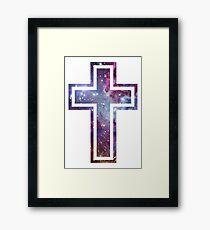Nebula Cross Framed Print