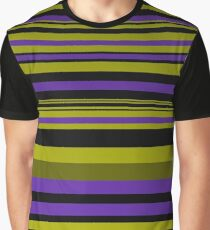 Horizontal lines with golden lines Graphic T-Shirt
