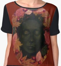 Queen of Autumn Women's Chiffon Top