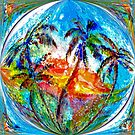Abstract Palm Sphere by Robin Monroe