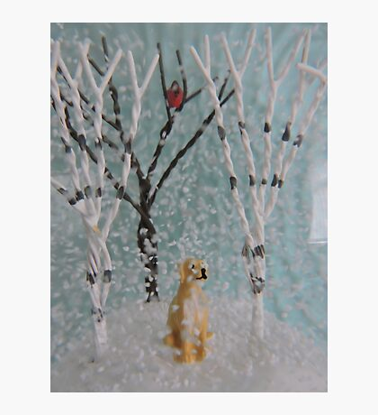 Labrador SnowGlobe Photographic Print