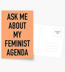 Fragen Sie mich nach meiner feministischen Agenda (Marvel) Postkarten