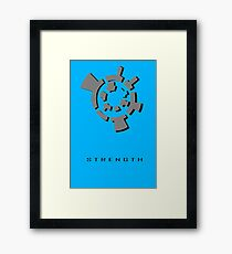 Chozo Artifact of Strength - 3D Minimalist Framed Print