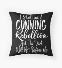 A Cunning Rebellion Geek Girl Manifesto Throw Pillow