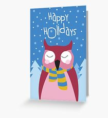 Owl Holiday Card Greeting Card