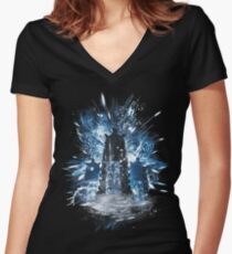 exterminate storm Women's Fitted V-Neck T-Shirt