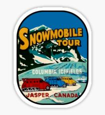 Jasper Snowmobile National Park Vintage Decal Sticker