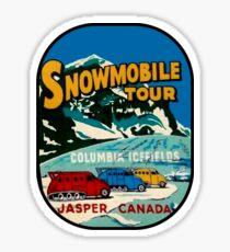 Jasper Snowmobile National Park Vintage Decal Sticker