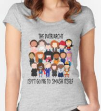 Patriarchy, SMASH Women's Fitted Scoop T-Shirt