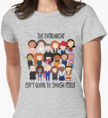 Patriarchy, SMASH Women's Fitted T-Shirt