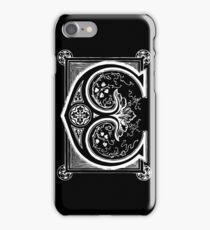 Old print ornament letter E iPhone Case/Skin
