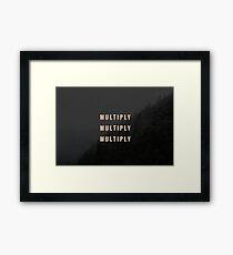 Multiply X3 Framed Print