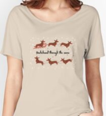 Dachshund Through The Snow Women's Relaxed Fit T-Shirt