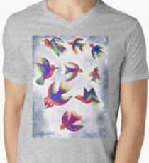 Birds in Flight  Men's V-Neck T-Shirt