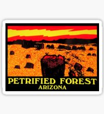 Petrified Forest Arizona Vintage Travel Decal Sticker