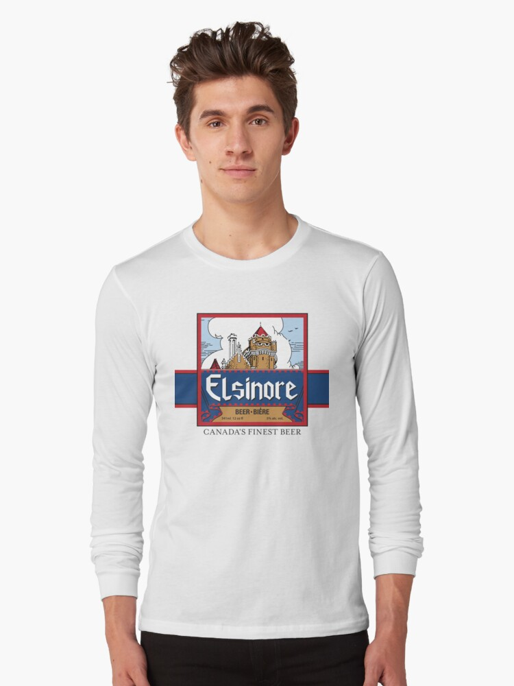 """Elsinore Beer"" - as seen on ""Strange Brew"" Long Sleeve T-Shirt Front"