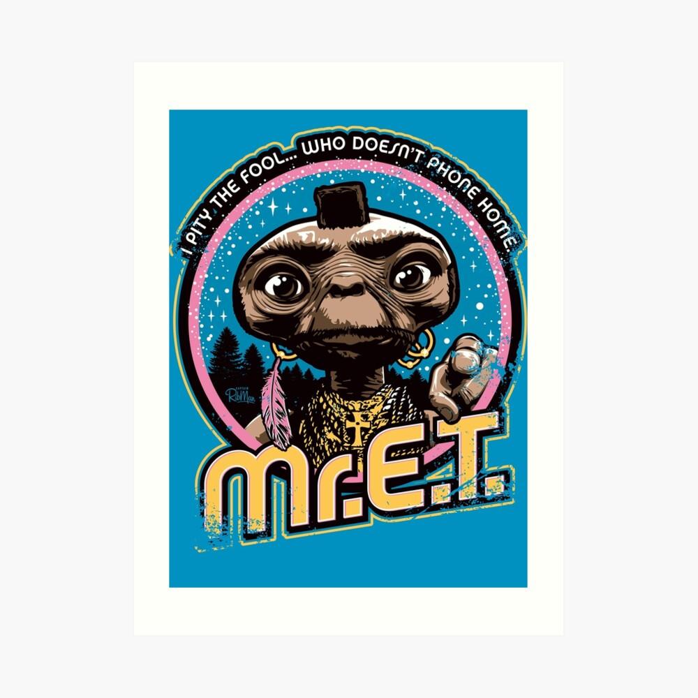 Mr. E.T. - 80s Retro Vintage Mash-Up Art Print