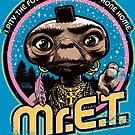 Mr. E.T. - 80s Retro Vintage Mash-Up by Captain RibMan