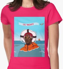 Lil Yachty in ocean Lil Boat Womens Fitted T-Shirt