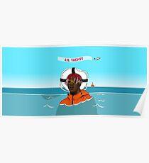 Lil Yachty in ocean Lil Boat Poster