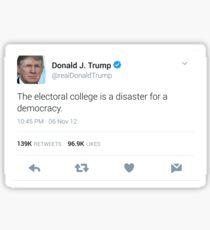 Donald Trump Electoral College Tweet Sticker