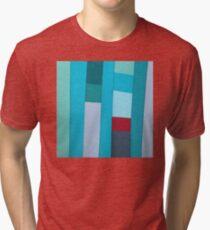 Gulf Waters Fabric Art Tri-blend T-Shirt