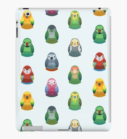 Parrot Nesting Doll Pattern iPad Case/Skin