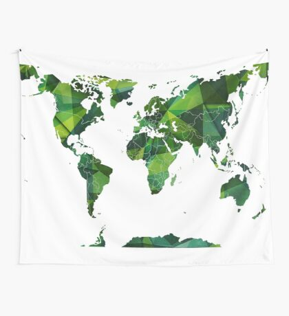 world map 27 Wall Tapestry