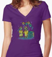 The Balloonfish Vender  Women's Fitted V-Neck T-Shirt