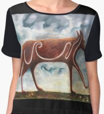Pictish Wolf Chiffon Top