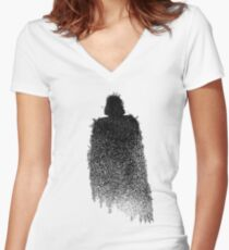 Star Wars Darth Vader Splat  Women's Fitted V-Neck T-Shirt