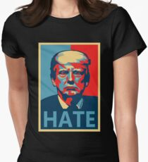 (Anti-) Trump Poster Women's Fitted T-Shirt