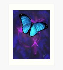 Space Butterfly Art Print