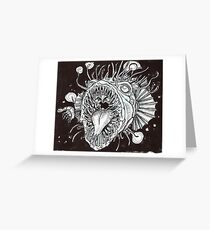 hungry angler fish Greeting Card