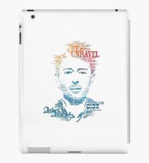 Typography Person iPad Case/Skin
