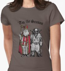 Tis the Season - St Nik and Krampus Womens Fitted T-Shirt
