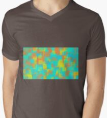 green blue yellow and orange square pattern T-Shirt