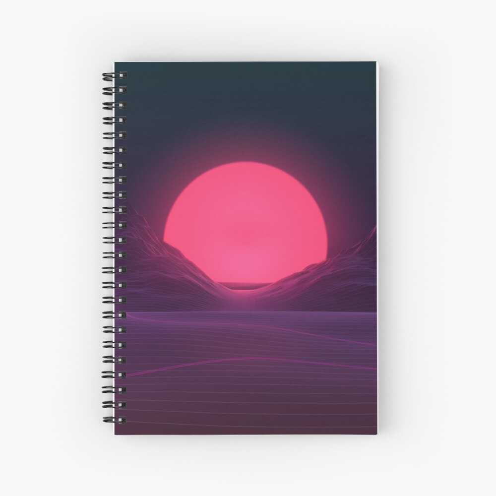 Neon Sunset Spiral Notebook