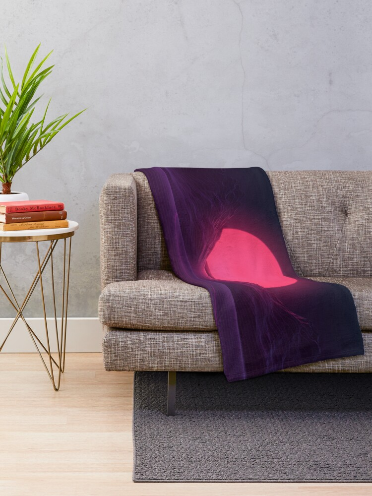 Alternate view of Neon Sunset Throw Blanket