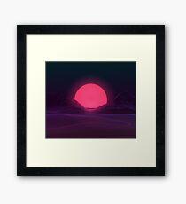 Neon Sunset Framed Print