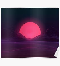 Neon Sunset Poster