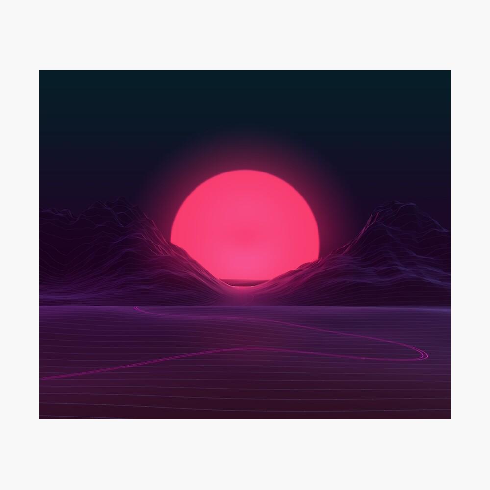 Neon Sunset Photographic Print