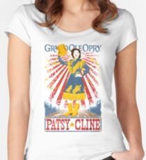 Patsy Cline Poster. Grand Ole Opry. Country Music. Nashville. TN.  Women's Fitted Scoop T-Shirt