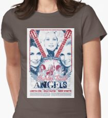 Honky Tonk Angels. Tammy Wynette, Dolly Parton, Loretta Lynn. Nashville, TN. Country Music Womens Fitted T-Shirt