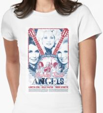 Honky Tonk Angels. Tammy Wynette, Dolly Parton, Loretta Lynn. Nashville, TN. Country Music Womens Fitted T-Shirt