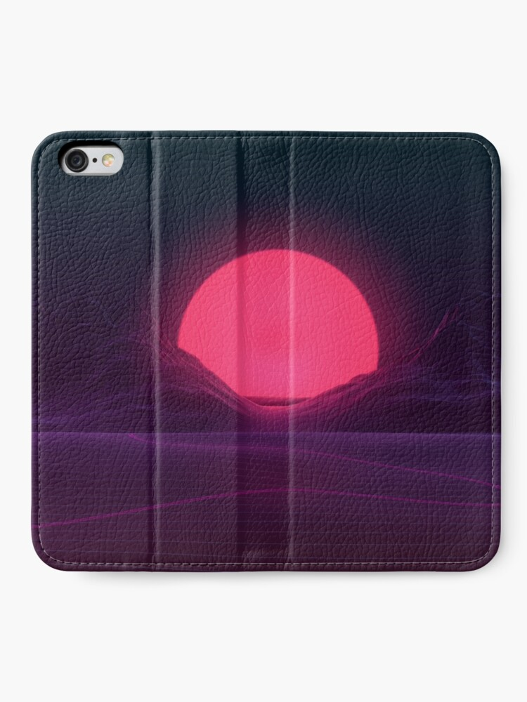 Alternate view of Neon Sunset iPhone Wallet