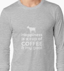 Happiness Coffee & My Goat Long Sleeve T-Shirt