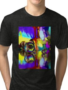 Cascading Marble Reflections Tri-blend T-Shirt