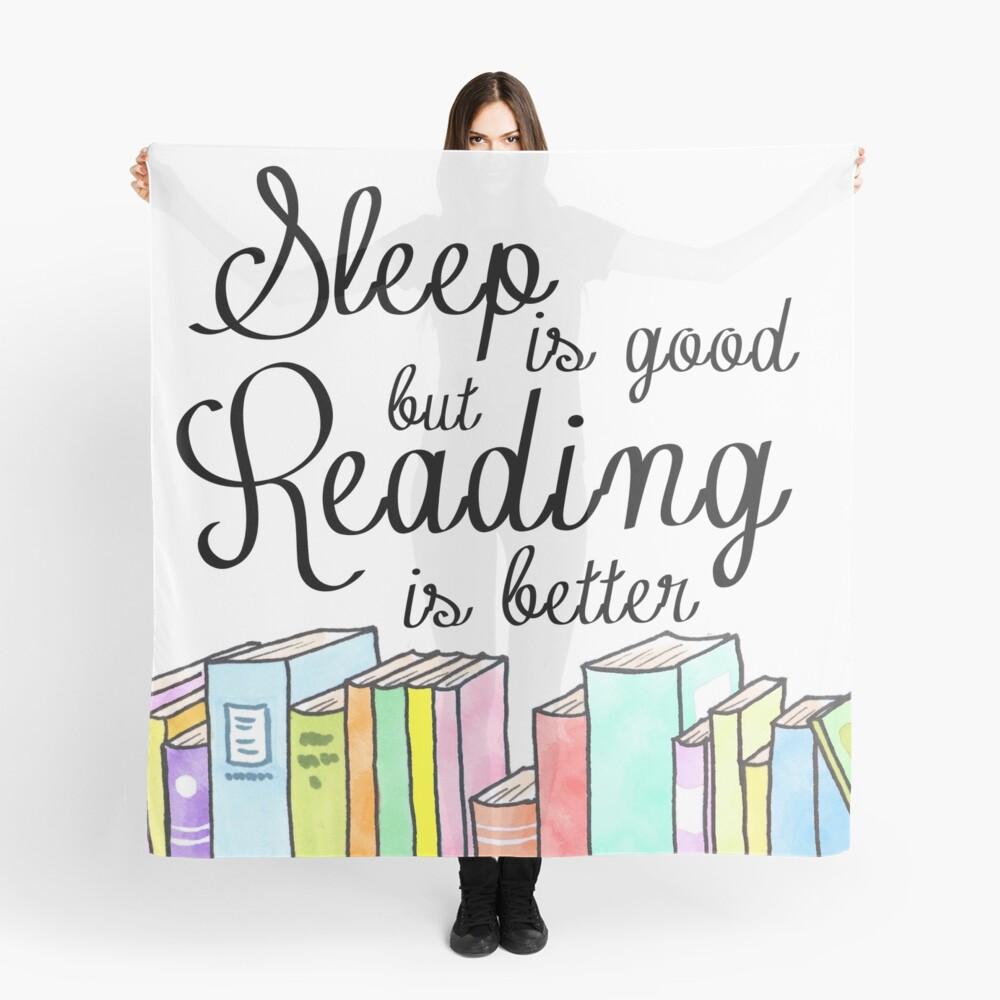 Schlaf ist gut, Lesen ist besser Tuch