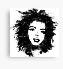 Lauryn Hill (monochrome) Canvas Print